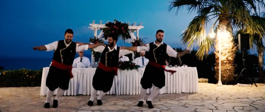 kefalonia wedding reception video